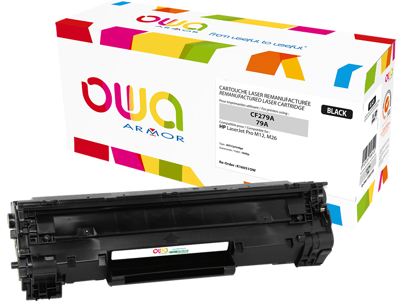 OWA Toner K16051OW ersetzt HP CF279A / 79A Tonerkartusche Schwarz