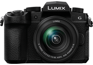 PANASONIC DC-G91MEG-K Lumix G Kit Systemkamera 20.30 Megapixel mit Objektiv 12-60 mm f/3.5-5.6, 7,5 cm Display Touchscreen, WLAN