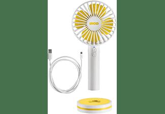 UNOLD 86610 Breezy Handventilator Weiß/Gelb (5 Watt)