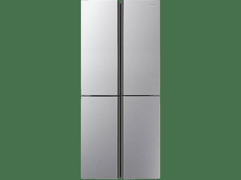 HISENSE RQ515N4AC2  French Door (A++, 301 kWh/Jahr, 1817 mm hoch, Edelstahl-Look)