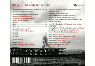 Ferhan Önder, Ferzan Önder - Ferhan and Ferzan Önder play Fazil Say  - (CD)