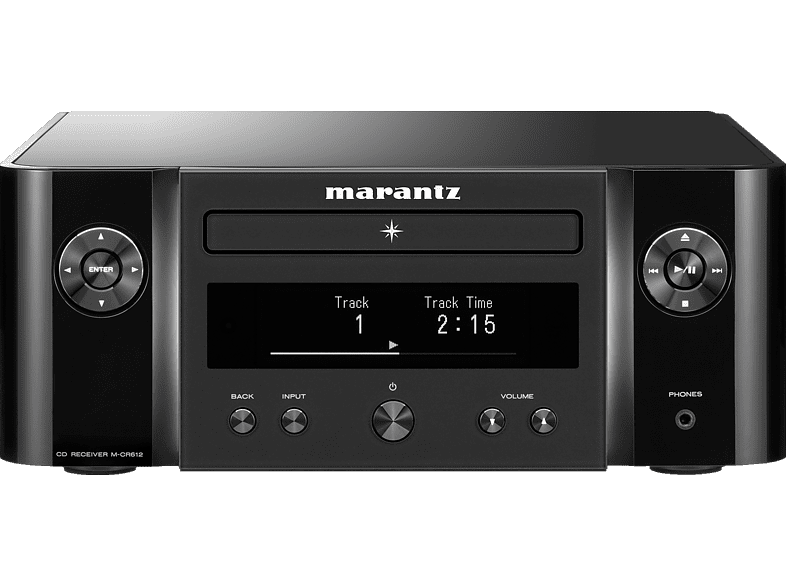 MARANTZ M-CR612 Melody X Hifi Receiver (2 Kanäle, Schwarz)