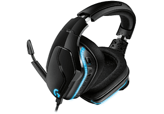 Auriculares gaming - Logitech G G635, Lightsync RGB, Sonido envolvente 7.1, Negro y azul