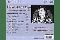 Sorkin,Evgeny/Andreeva,Natalia - Galina Ustvolskaya: Musik für Violine und Klavier [CD]