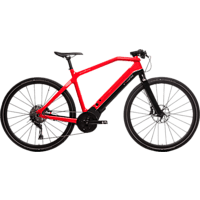 PININFARINA DPE0419-5304 PED Urbanbike (28 Zoll, 53 cm, Diamant, 489.6 Wh, Schwarz/Rot)