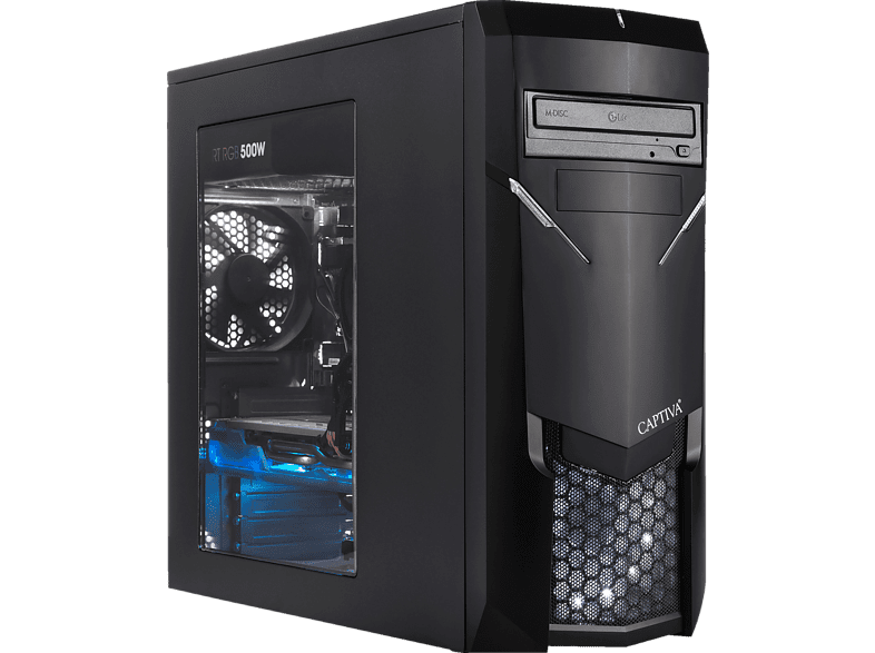 CAPTIVA R48-767, Gaming PC mit Ryzen™ 5 Prozessor, 8 GB RAM, 120 GB SSD, 1 TB HDD, GeForce® GTX 1660Ti, 6 GB