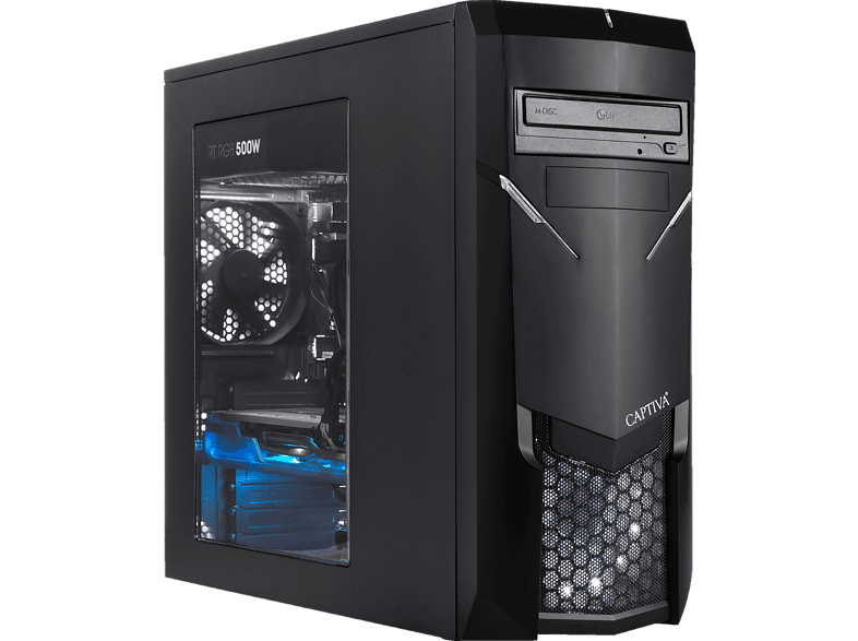 CAPTIVA R49-656, Gaming PC mit Ryzen™ 5 Prozessor, 8 GB RAM, 120 GB SSD, 1 TB HDD, GeForce® GTX 1660, 6 GB