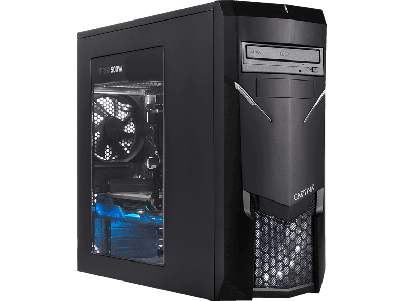 CAPTIVA R48-769, Gaming PC mit Ryzen™ 7 Prozessor, 16 GB RAM, 240 GB SSD, 1 TB HDD, GeForce® GTX 1660Ti, 6 GB