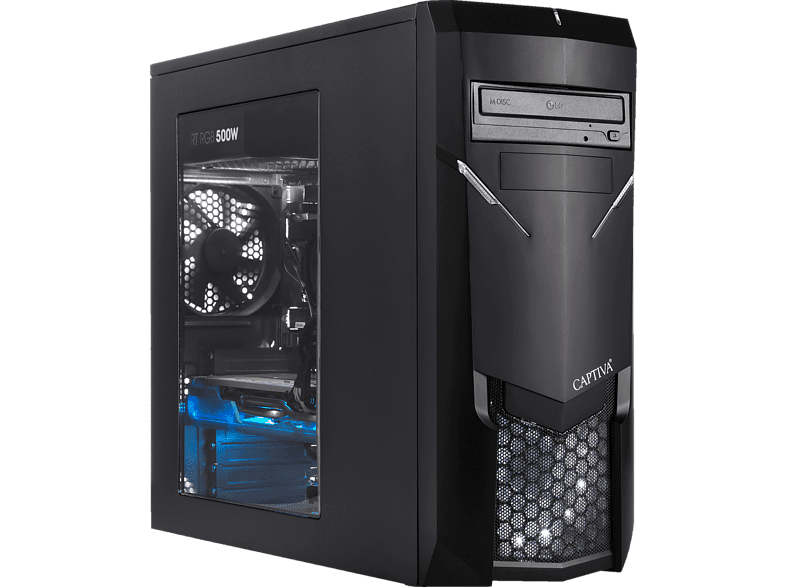 CAPTIVA I49-640, Gaming PC mit Core™ i7 Prozessor, 8 GB RAM, 120 GB SSD, 1 TB HDD, GeForce® GTX 1660, 6 GB