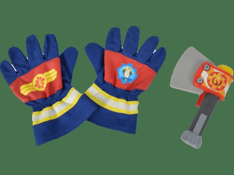 SIMBA TOYS Sam Feuerwehr Handschuhe und Axt Spielset, Mehrfarbig