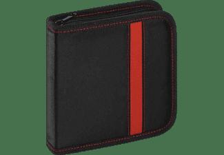 VIVANCO CD/DVD Wallet Schwarz/rote Applikation