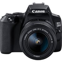 CANON EOS 250D Kit Spiegelreflexkamera, 24.1 Megapixel, 4K, Full HD, HD, 18-55 mm Objektiv (EF-S, DC), Touchscreen Display, WLAN, Schwarz
