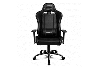Silla gaming - Drift DR200B, Respaldo reclinable, Asiento basculante, Negro