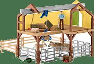 SCHLEICH Bauernhaus mit Stall und Tieren Bauernhaus, Mehrfarbig