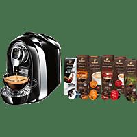TCHIBO CAFISSIMO Compact + 60 Kapseln (Espresso, Tee, Filterkaffee, Caffè Crema) Kapselmaschine Schwarz