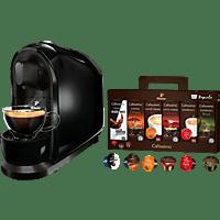 TCHIBO CAFISSIMO Pure + 60 Kapseln (Espresso, Tee, Filterkaffee, Caffè Crema) Kapselmaschine Schwarz