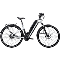 HNF-NICOLAI UD1 UNISEX 19PEDELEC Citybike (28 Zoll, 44 cm, 500 Wh, Silber)