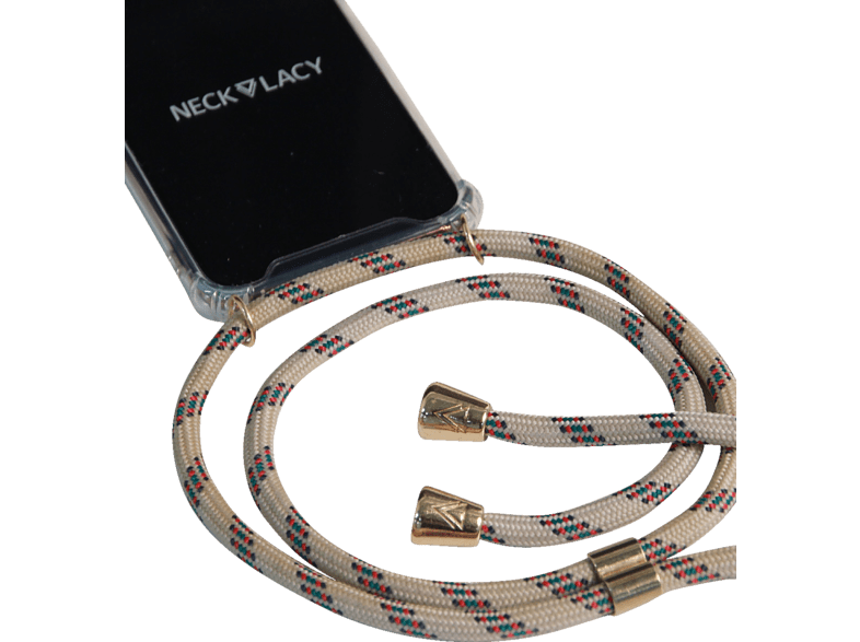 NECKLACY Necklace Case Classic Birch , Backcover, Huawei, P30, Thermoplastisches Polyurethan, Champagne/Transparent