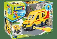 REVELL Paketdienst-Fahrzeug mit Figur Bausatz, Mehrfarbig
