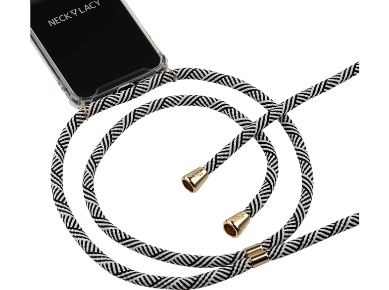 NECKLACY Necklace Case Domino Swirl , Backcover, Huawei, P30 Pro, Thermoplastisches Polyurethan, Weiß/Transparent