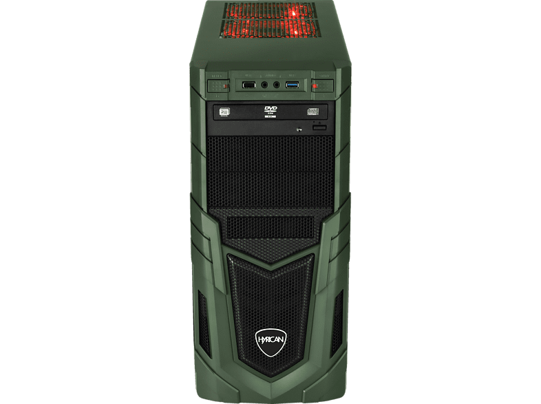 HYRICAN MILITARY GAMING 6364, Gaming PC mit Core™ i5 Prozessor, 16 GB RAM, 480 GB SSD, 1 TB HDD, GeForce® GTX 1650, 4 GB