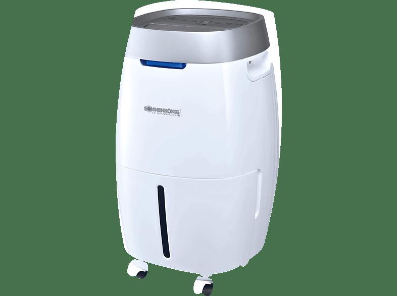 SONNENKÖNIG 10100362 Secco 200 Luftentfeuchter Weiß/Silber (350 Watt, Entfeuchterleistung: 0.83 Liter/Std., Raumgröße: 75 m³)