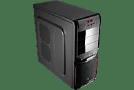 AEROCOOL V3X ADVANCE Devil Red Edition PC Gehäuse, Schwarz