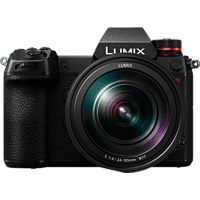 PANASONIC Lumix DC-S1R Kit Systemkamera 47.3 Megapixel mit Objektiv 24-105 mm f/4.0, 8 cm Display Touchscreen, WLAN