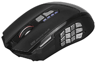 Ratón gaming - Scorpion MA-G990, 16000 DPI, Botones macro, RGB, Negro