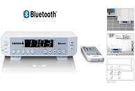 LENCO KCR-100 Küchenradio, PLL, FM, BluetoothJa, Weiß