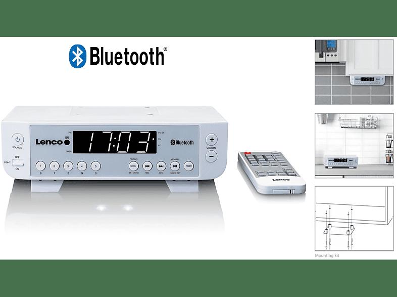 LENCO KCR-100 Küchenradio (UKW, Weiß)