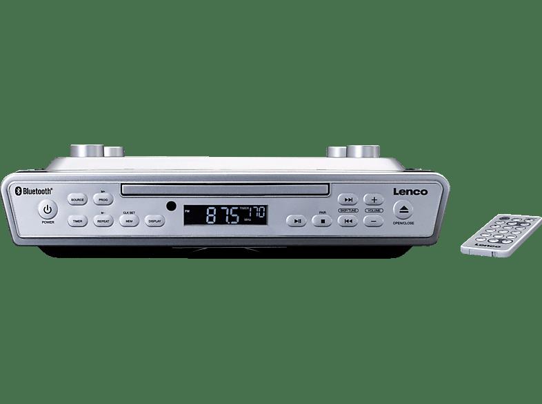 LENCO KCR-150 Küchenradio (PLL, UKW, Silber)