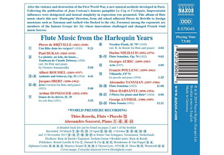 Alessandro Soccorsi, Roorda Thies - Flute Music from the Harlequin Years  - (CD)