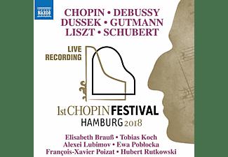 Elisabeth Brauß, Tobias Koch, Alexei Lubimov, Ewa Poblocka, Francois-Xavier Poizat, Hubert Rutkowski - First Chopin Festival Hamburg 2018  - (CD)
