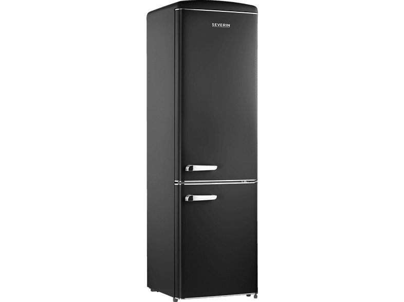 SEVERIN RKG 8922  Kühlgefrierkombination (A++, 188 kWh/Jahr, 183 cm hoch, Mattschwarz)