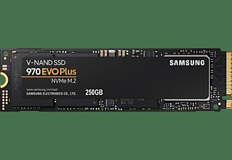 SAMSUNG 970 EVO Plus Festplatte Retail, 250 GB SSD M.2 via NVMe, intern