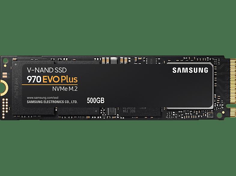 SAMSUNG 970 EVO Plus Festplatte Retail, 500 GB SSD M.2 via NVMe, intern
