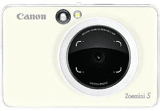 Cámara instantánea - Canon Zoemini S W, 8 MP, 314 x 600 ppp, 10 hojas, Bluetooth, MicroSD, Blanco