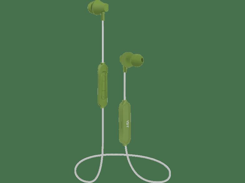 ISY IBH 3001, In-ear Kopfhörer Bluetooth Grün