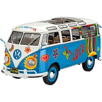 """REVELL VW T1 Samba Bus """"Flower Power"""" Modellbausatz, Mehrfarbig"""