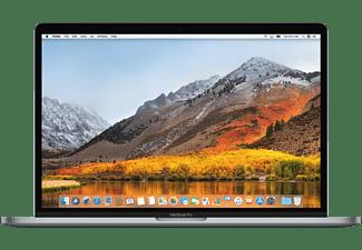 APPLE MacBook Pro MV902D/A mit deutscher Tastatur, Notebook mit 15,4 Zoll Display, Core™ i7 Prozessor, 16 GB RAM, 256 GB SSD, Radeon™ Pro 555X, Space Grau