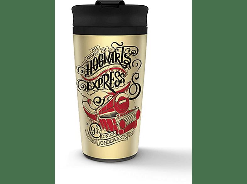 PYRAMID INTERNATIONAL Hogwarts Travel Mug Reisebecher, Mehrfarbig