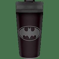PYRAMID INTERNATIONAL Batman Travel Mug Reisebecher, Schwarz/Grau
