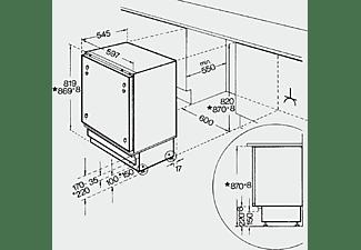 BAUKNECHT Unterbau-Kühlschrank UVI 1884 A++ mit Gefrierfach (144 kWh/Jahr, A++, 815 mm hoch, Weiß)