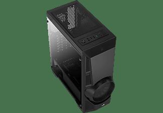 AEROCOOL AeroEngine RGB Tempered Glass PC-Gehäuse, Schwarz