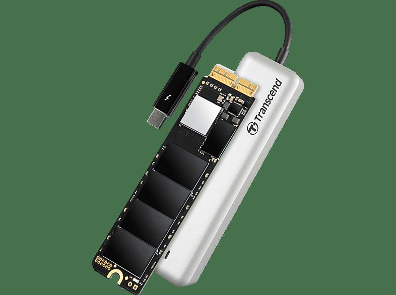 TRANSCEND JetDrive 855, 960 GB SSD, extern, Silber