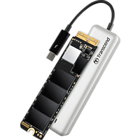 TRANSCEND JetDrive 855, 480 GB SSD, extern, Silber