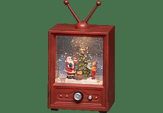 """KONSTSMIDE LED """"Fernseher mit Weihnachtsmann und Kind"""", wassergefüllt Leuchtdekoration, Braun, Warm Weiß"""