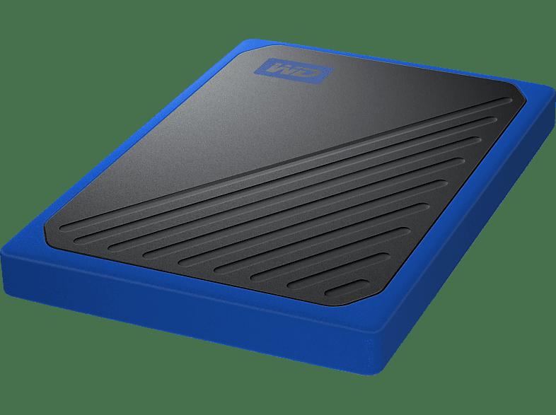 WD My Passport™ Go, 1 TB SSD, 2.5 Zoll, extern, Schwarz/Blau