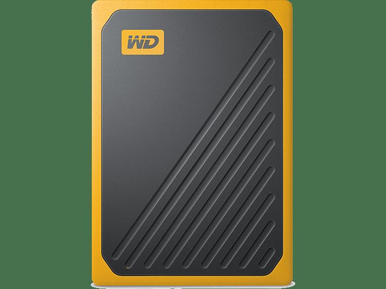 WD My Passport Go, 1 TB SSD, 2.5 Zoll, extern, Schwarz/Gelb